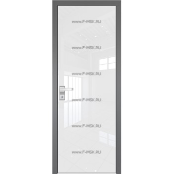 Модель 1 AGK / Стекло Lacobel Белый лак / Окрас стекла Без окраса стекла / Кромка Матовая алюминиевая