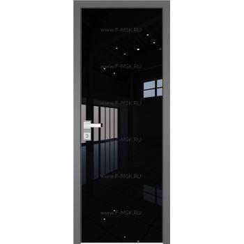 Модель 1 AGK / Стекло Lacobel Черный лак / Окрас стекла Без окраса стекла / Кромка Матовая алюминиевая