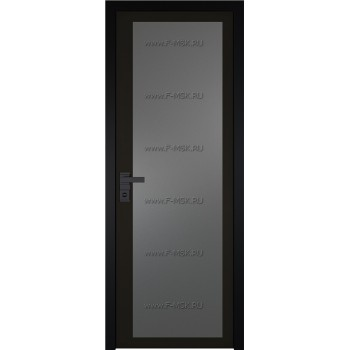 Модель 2 AGK / Стекло Мателюкс графит / Окрас стекла Чёрный / Кромка Black Edition