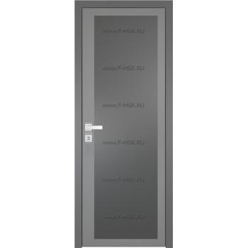 Модель 2 AGK / Стекло Мателюкс графит / Окрас стекла Серый / Кромка Матовая алюминиевая