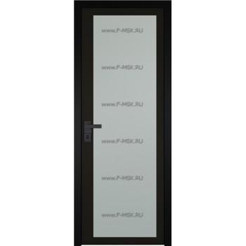 Модель 2 AGK / Стекло Мателюкс / Окрас стекла Чёрный / Кромка Black Edition