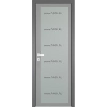 Модель 2 AGK / Стекло Мателюкс / Окрас стекла Серый / Кромка Матовая алюминиевая
