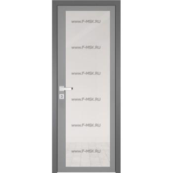 Модель 2 AGK / Стекло Прозрачное / Окрас стекла Серый / Кромка Матовая алюминиевая