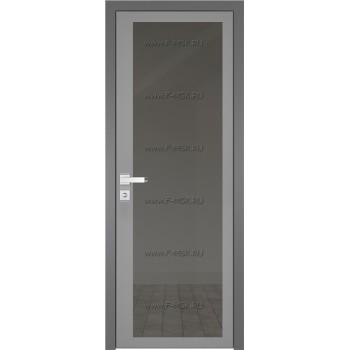 Модель 2 AGK / Стекло Планибель графит / Окрас стекла Серый / Кромка Матовая алюминиевая