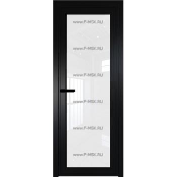 Модель 1 AGP / Стекло Белый триплекс / Вставка - / Цвет профиля Черный матовый RAL9005
