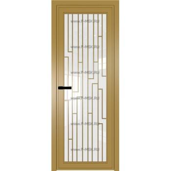 Модель 1 AGP / Стекло Белый триплекс / Вставка Рисунок 5 / Цвет профиля Золото