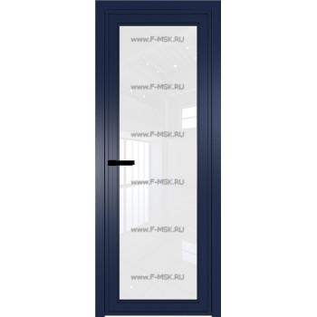Модель 1 AGP / Стекло Белый триплекс / Вставка - / Цвет профиля Cиний матовый RAL5003