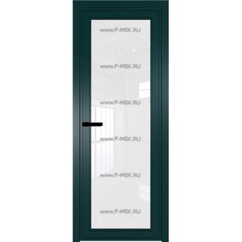 Модель 1 AGP / Стекло Белый триплекс / Вставка - / Цвет профиля Зеленый матовый RAL6004