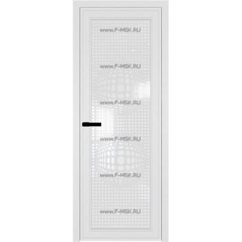 Модель 1 AGP / Стекло Белый триплекс / Вставка Рисунок 3 / Цвет профиля Белый матовый RAL9003