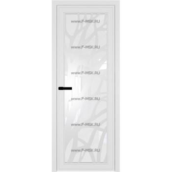 Модель 1 AGP / Стекло Белый триплекс / Вставка Рисунок 2 / Цвет профиля Белый матовый RAL9003