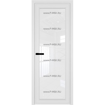 Модель 1 AGP / Стекло Белый триплекс / Вставка Рисунок 1 / Цвет профиля Белый матовый RAL9003