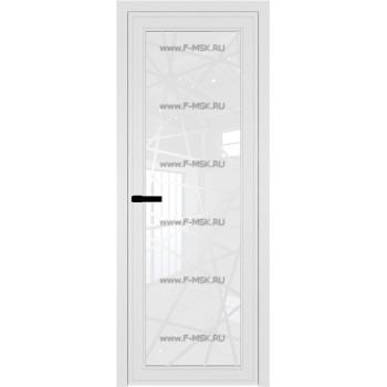 Модель 1 AGP / Стекло Белый триплекс / Вставка Рисунок 4 / Цвет профиля Белый матовый RAL9003