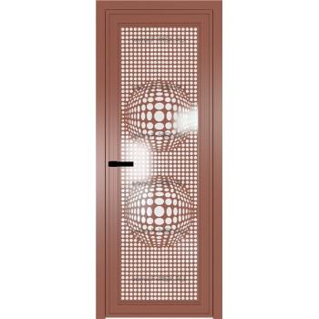 Модель 1 AGP / Стекло Белый триплекс / Вставка Рисунок 3 / Цвет профиля Бронза