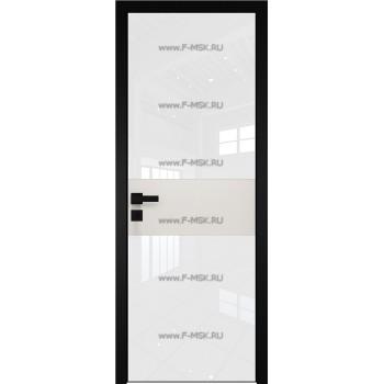 Модель 5 AGK / Стекло Lacobel Белый лак / Окрас стекла Без окраса стекла / Вставка ДаркВайт / Кромка Black Edition