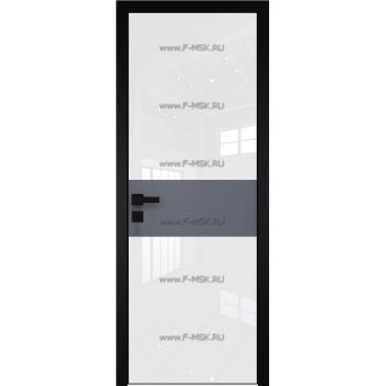 Модель 5 AGK / Стекло Lacobel Белый лак / Окрас стекла Без окраса стекла / Вставка Антрацит / Кромка Black Edition