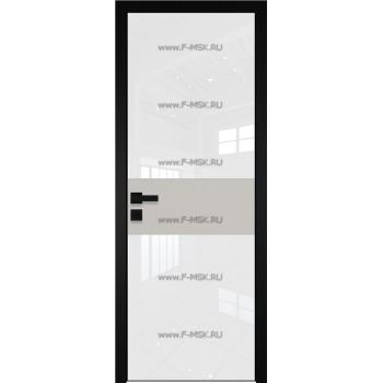 Модель 5 AGK / Стекло Lacobel Белый лак / Окрас стекла Без окраса стекла / Вставка Галька матовый / Кромка Black Edition
