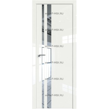 Модель 16LK / Цвет ДаркВайт Люкс / Стекло Зеркало / Кромка Матовая с 4-х сторон