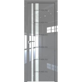 Модель 16LK / Цвет Грей Люкс / Стекло Lacobel Белый лак / Кромка Матовая с 4-х сторон