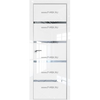 Модель 20LK / Цвет Белый люкс / Стекло Зеркало / Кромка Матовая с 4-х сторон