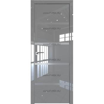 Модель 20LK / Цвет Грей Люкс / Стекло Lacobel Серебряный лак / Кромка Матовая с 4-х сторон