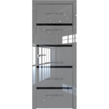 Модель 20LK / Цвет Грей Люкс / Стекло Lacobel Черный лак / Кромка Матовая с 4-х сторон