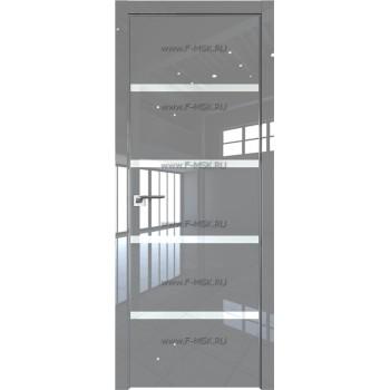 Модель 20LK / Цвет Грей Люкс / Стекло Lacobel Белый лак / Кромка Матовая с 4-х сторон