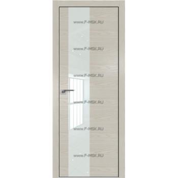 Модель 5NK / Цвет Дуб SKY Белёный / Стекло Lacobel Белый лак / Кромка Black Edition с 4-х сторон