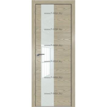Модель 5NK / Цвет Дуб SKY Крем / Стекло Lacobel Белый лак / Кромка Black Edition с 4-х сторон