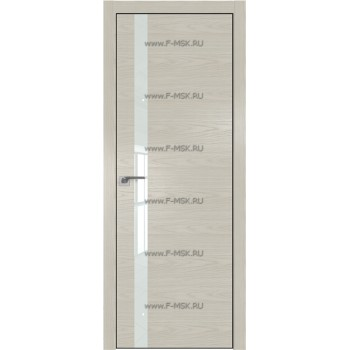 Модель 6NK / Цвет Дуб SKY Белёный / Стекло Lacobel Белый лак / Кромка Black Edition с 4-х сторон