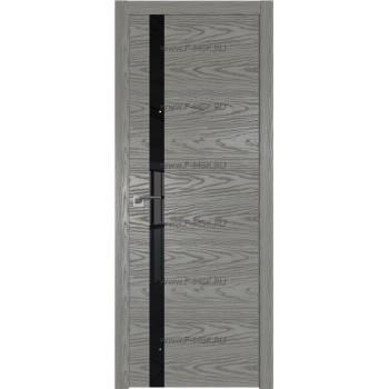Модель 6NK / Цвет Дуб SKY Denim / Стекло Lacobel Черный лак / Кромка ABS черная матовая с 4-х сторон