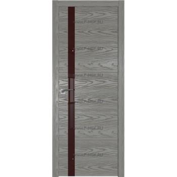 Модель 6NK / Цвет Дуб SKY Denim / Стекло Lacobel Коричневый лак / Кромка ABS черная матовая с 4-х сторон