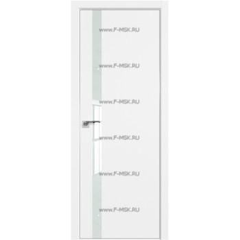 Модель 6SMK / Цвет Белый матовый / Декоративная вставка Lacobel Белый лак / Кромка Матовая с 4-х сторон