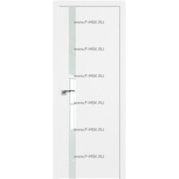 Модель 6SMK / Цвет Белый матовый / Декоративная вставка Lacobel Белый лак / Кромка ABS в цвет