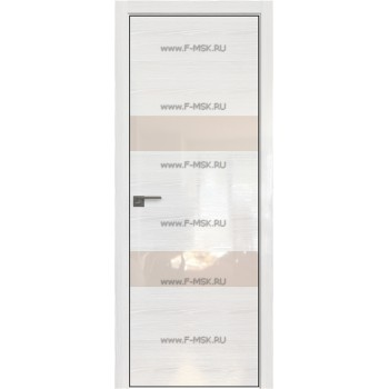 Модель 34STK / Цвет Pine White glossy / Стекло Lacobel Перламутровый лак / Кромка Black Edition с 4-х сторон