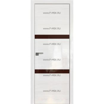 Модель 30STK / Цвет Pine White glossy / Стекло Lacobel Коричневый лак / Кромка Матовая с 4-х сторон