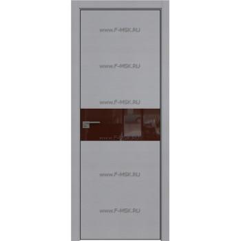 Модель 4STK / Цвет Pine Manhattan Grey / Стекло Lacobel Коричневый лак / Кромка Black Edition с 4-х сторон