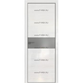 Модель 4STK / Цвет Pine White glossy / Стекло Lacobel Серебряный лак / Кромка Black Edition с 4-х сторон