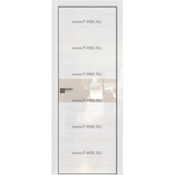 Модель 4STK / Цвет Pine White glossy / Стекло Lacobel Перламутровый лак / Кромка Black Edition с 4-х сторон