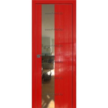 Модель 5STK / Цвет Pine Red glossy / Стекло Зеркало / Кромка Матовая с 4-х сторон