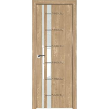 Модель 16ZN / Цвет Каштан натуральный / Стекло Lacobel Белый лак / Кромка Матовая с 4-х сторон