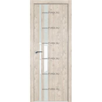 Модель 16ZN / Цвет Каштан светлый / Стекло Lacobel Белый лак / Кромка Матовая с 4-х сторон