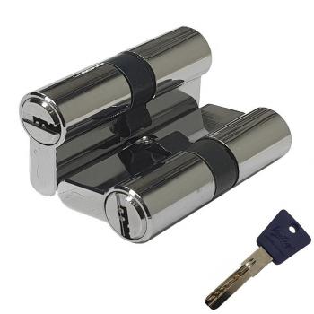 Механизм цилиндрический с повышенной секретностью P60CP хром (Товар № ZF113858)