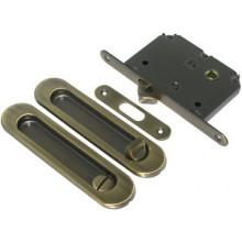 Ручка для раздвижных дверей с фиксатором , Цвет - Матовое золото (Товар № ZF134328)
