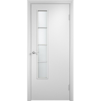 """Дверь усиленная трубчатым ДСП ламин. 05 , Цвет - Белый, Тип - Остекление """"Сатинато"""" (Товар № ZF134399)"""