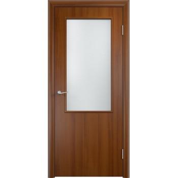 """Дверь усиленная трубчатым ДСП ламин. ДП , Цвет - Лесной орех, Тип - Остекление """"Сатинато"""" (Товар № ZF134472)"""