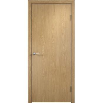 Дверь усиленная трубчатым ДСП ПВХ ДПГ , Цвет - Дуб, Тип - Глухое (Товар № ZF134817)