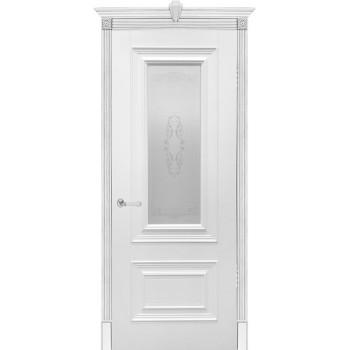 """Бергамо , Цвет - Белый, Тип - Остекление """"Белое матовое с рис."""" (Товар № ZF200757)"""