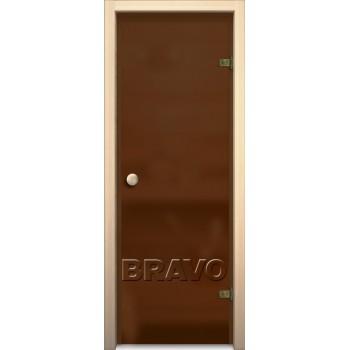 Дверь стеклянная Кноб Е в цвете Бронза Сатинато. (Товар №  ZF38548)