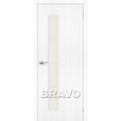 Дверь экошпон Тренд-4 в цвете Snow Veralinga остекленная (Товар №  ZF38288)