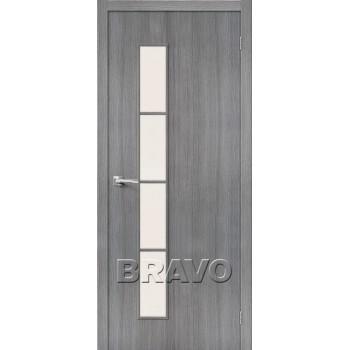 Дверь экошпон Тренд-4 в цвете Grey Veralinga остекленная (Товар №  ZF38285)